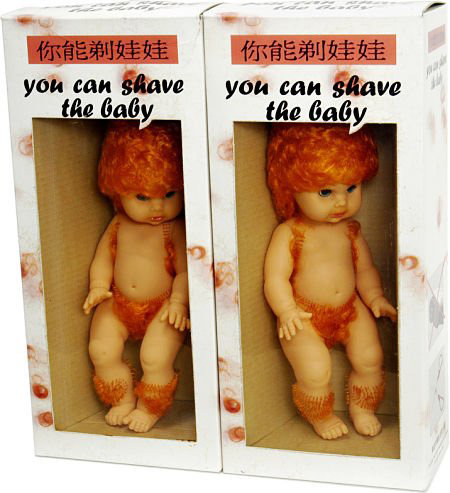 You Can Shave The Baby toy